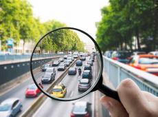 Loep op verkeersdrukte